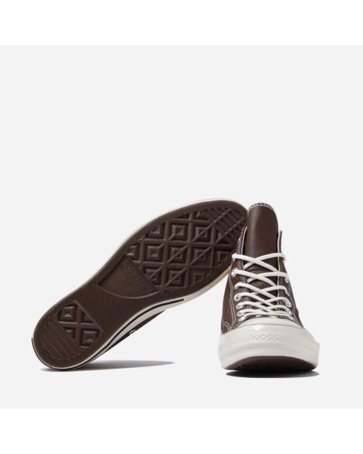 ac1b8a012f23 ... Converse - Brown Chuck Taylor All Star 70 Hi Leather for Men - Lyst ...