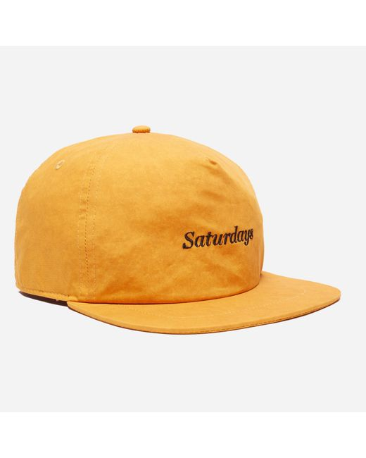 Saturdays NYC - Yellow Stanley Mineral Logo Baseball Cap for Men - Lyst