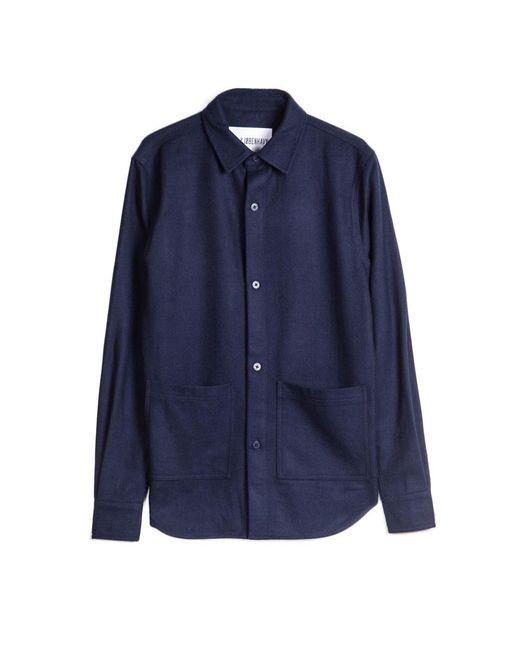 Han Kjobenhavn Public Shirt In Navy In Blue For Men Save