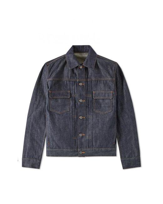 A.P.C. - Blue Work Jeans Veste Indigo for Men - Lyst