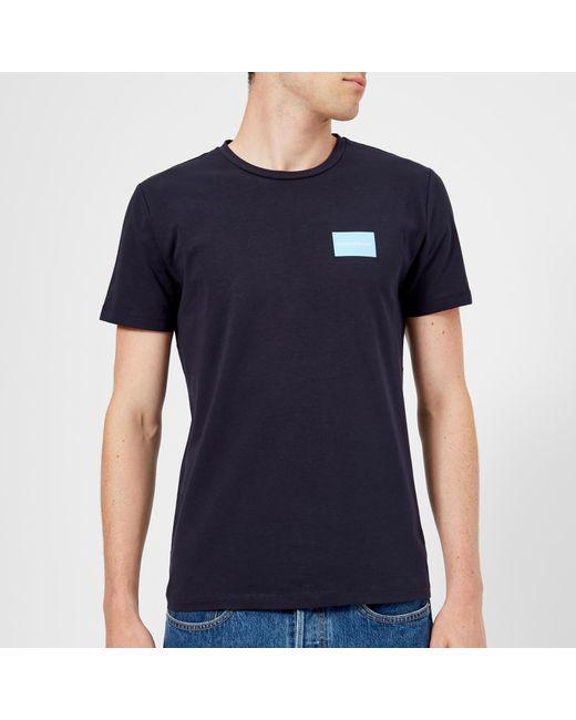 5b49e574a611 Calvin Klein - Blue Institutional Logo Slim Stretch T-shirt for Men - Lyst .