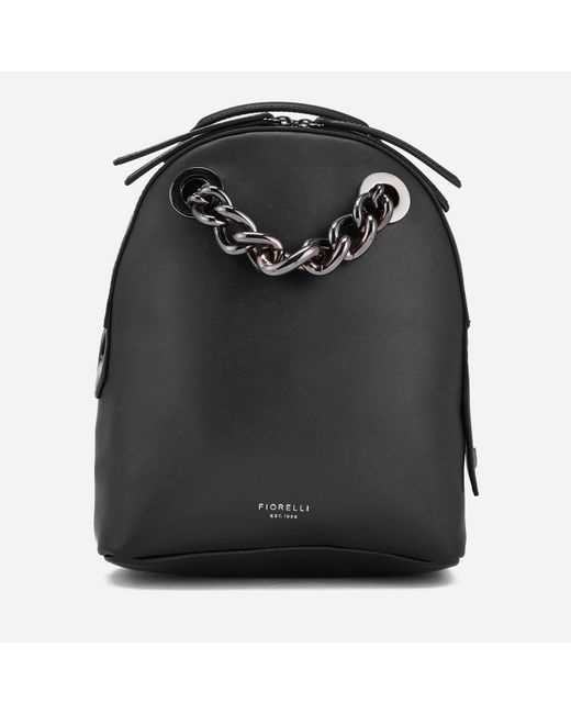 Fiorelli   Black Anouk Small Backpack With Chain   Lyst