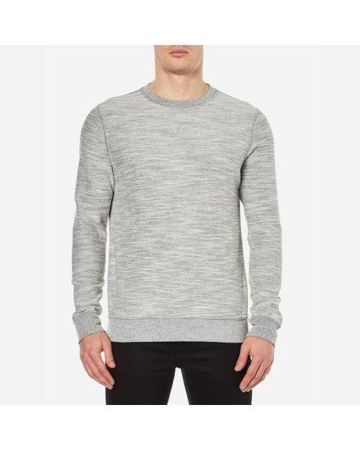 BOSS Orange | Gray Men's Woice Reversible Sweatshirt for Men | Lyst