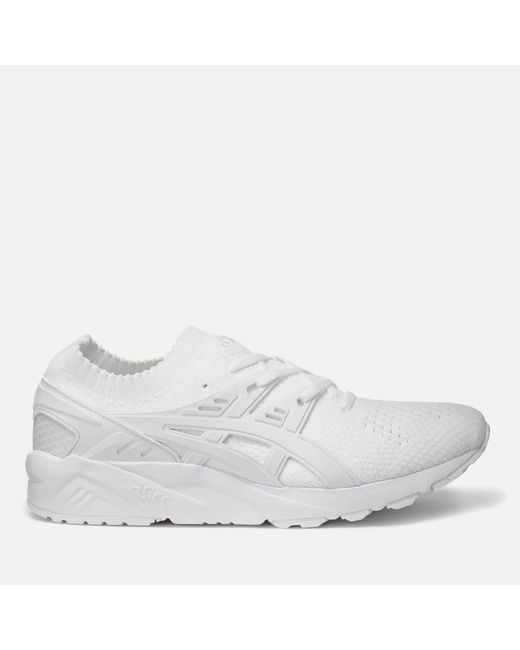 Asics - White Gel-kayano Knit Trainers for Men - Lyst