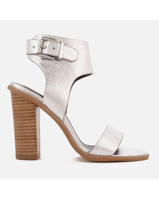 Sol Sana - Metallic Tiki Ii Leather Heeled Sandals - Lyst