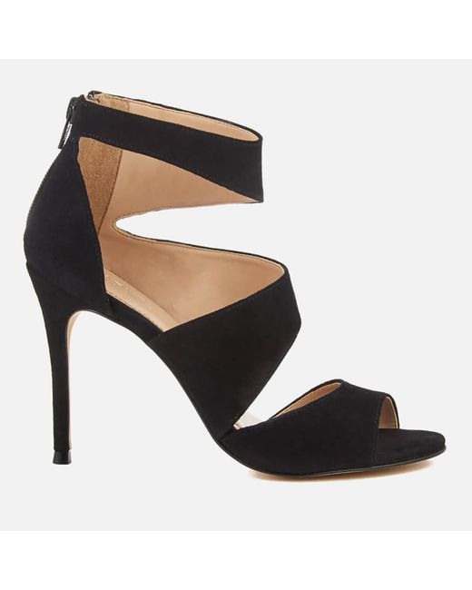 Carvela Kurt Geiger | Black Gene Suede Triple Strap Heeled Sandals | Lyst
