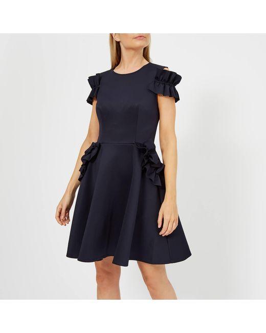 31a04a04b32dd1 Ted Baker - Blue Deneese Ruffle Detail Dress - Lyst ...