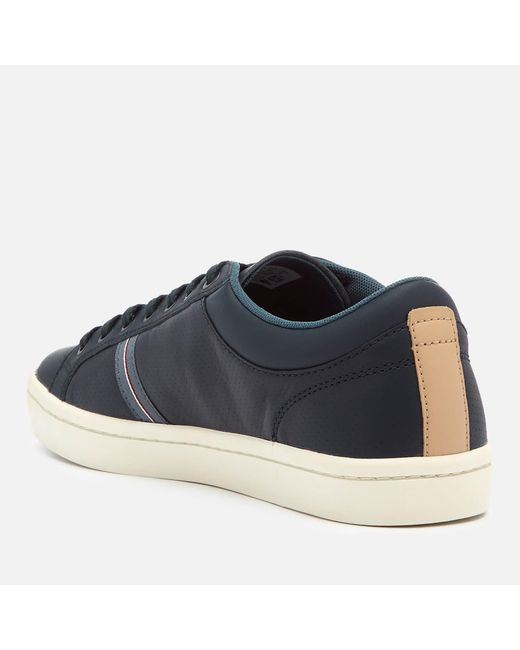 1c704e78baeeeb ... Lacoste - Blue Straightset Sport 318 1 Leather Trainers for Men - Lyst  ...