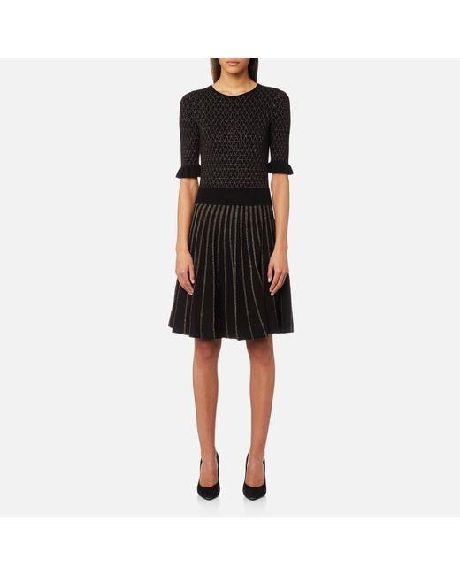 BOSS Orange - Black Illora Dress - Lyst