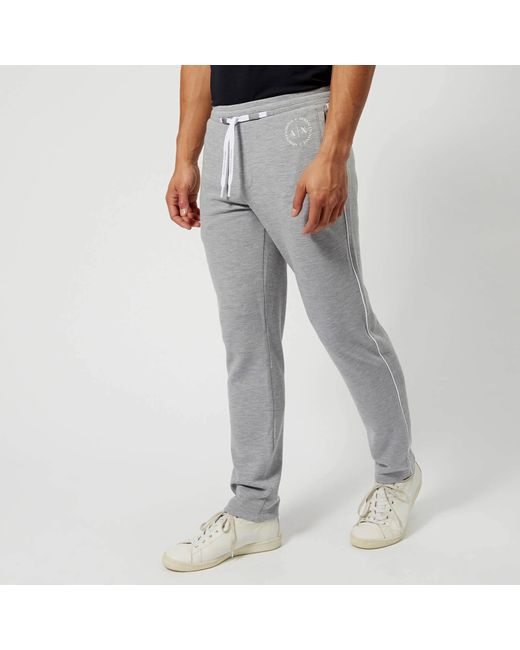 Armani Exchange - Gray Drawstring Sweatpants for Men - Lyst