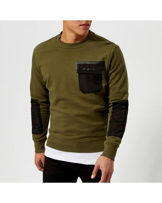 DIESEL - Green Crome Sweatshirt for Men - Lyst