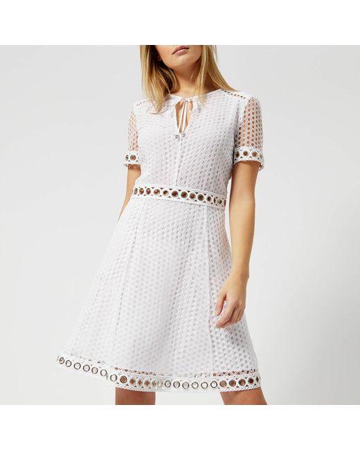 a1902656681 MICHAEL Michael Kors - White Lace Combo Dress - Lyst ...