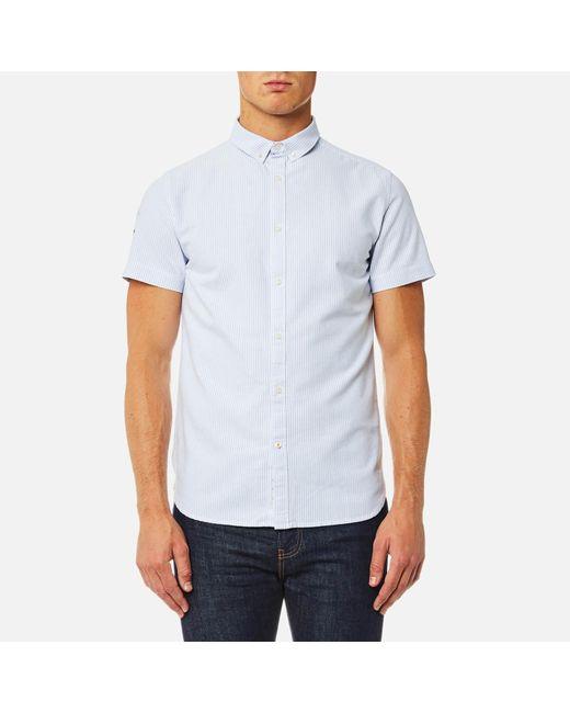 Superdry - Blue Ultimate Lite Loom Short Sleeve Oxford Shirt for Men - Lyst