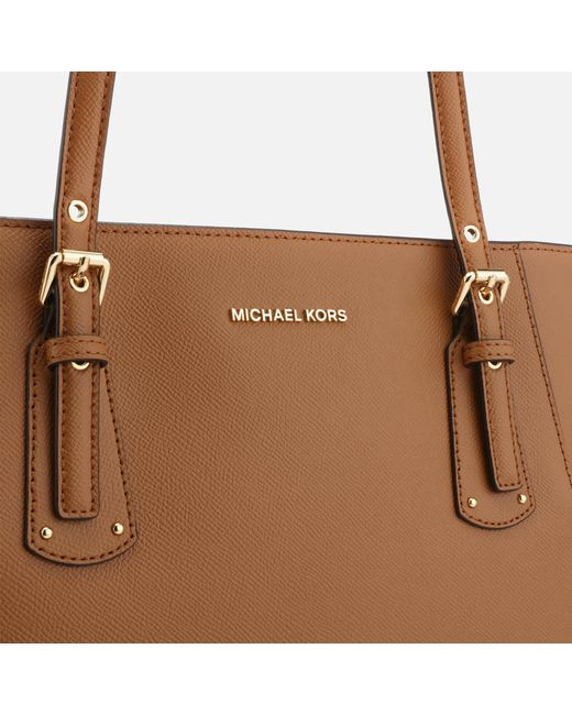 8a5f8fee07b7 ... MICHAEL Michael Kors - Brown Voyager East West Tote Bag - Lyst ...