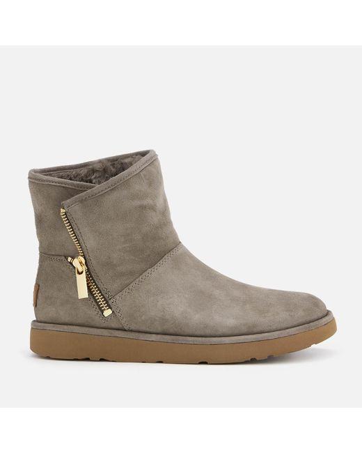 56664baed36 Women's Gray Kip Side Zip Suede Boots