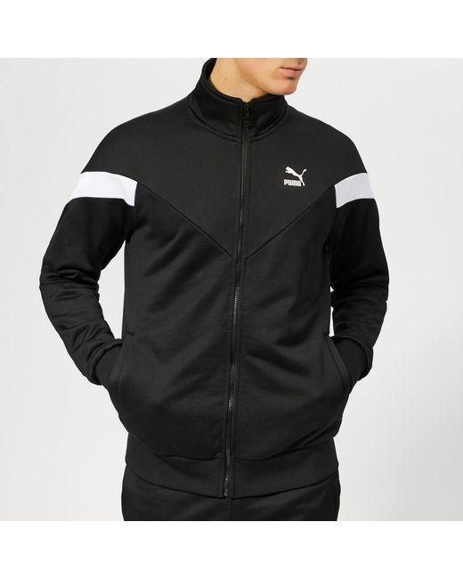 9d4f1441fe3d PUMA - Black Iconic Mcs Track Jacket for Men - Lyst ...