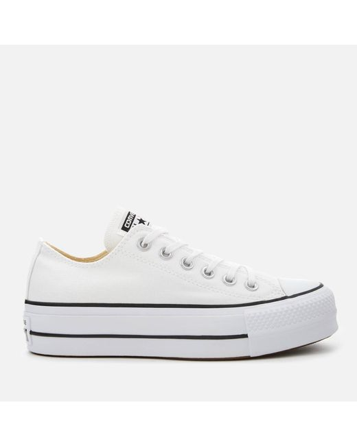 c89a8e3f90df Converse Chuck Taylor All Star Lift Ox Trainers in White - Save 42 ...