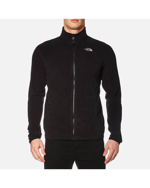 The North Face Black 100 Glacier Full Zip Fleece for men