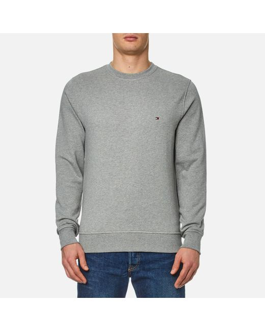 Tommy Hilfiger | Gray Grey Jacquard Dotted Sweatshirt for Men | Lyst