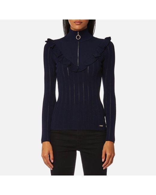 Guess   Blue Long Sleeve Lucia Sweatshirt   Lyst