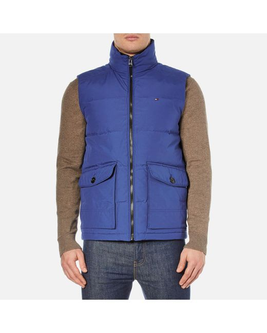 Tommy Hilfiger | Blue Hampton Down Gilet for Men | Lyst