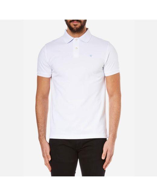Hackett - White Tailored Logo Polo Shirt for Men - Lyst