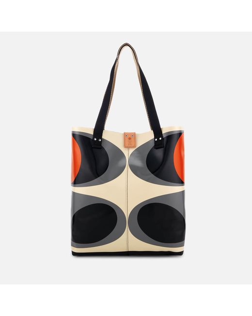 Orla Kiely - Black Tarpaulin Flower Stem Print Tote Bag - Lyst