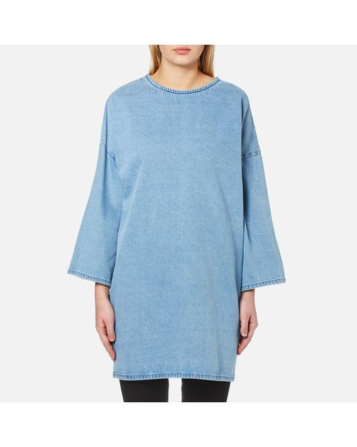 WÅVEN - Blue Bea Longline Top With Side Splits - Lyst