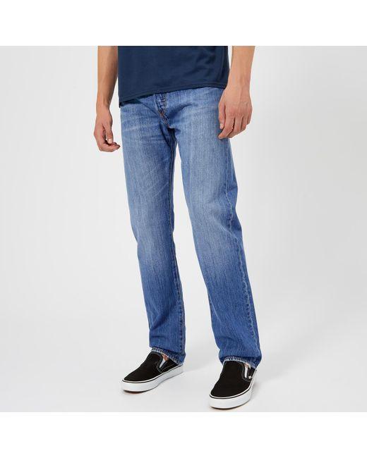 81a20307 Levi's - Blue 501 Original Fit Jeans for Men - Lyst ...