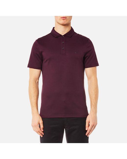 Michael Kors | Purple Sleek Mk Polo Shirt for Men | Lyst