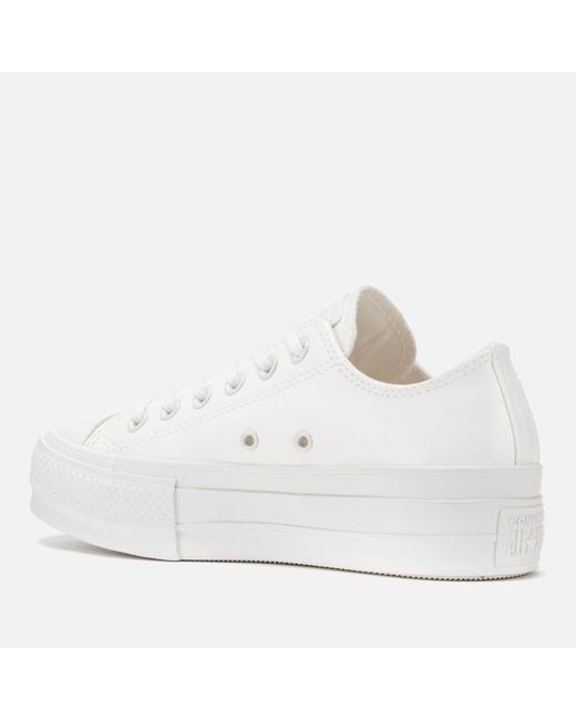 88246844a9f5 ... Converse - White Chuck Taylor All Star Lift Ox Trainers - Lyst ...
