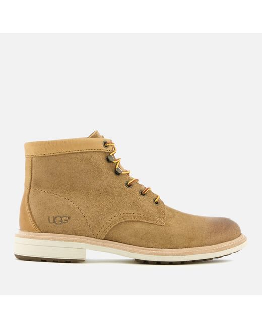 ugg vestmar leather lace up boots in brown for lyst