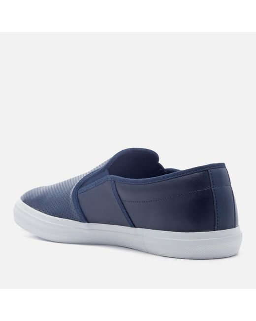 5bcfb227743d47 ... Lacoste - Blue Gazon Bl 1 Leather Slip-on Trainers for Men - Lyst ...