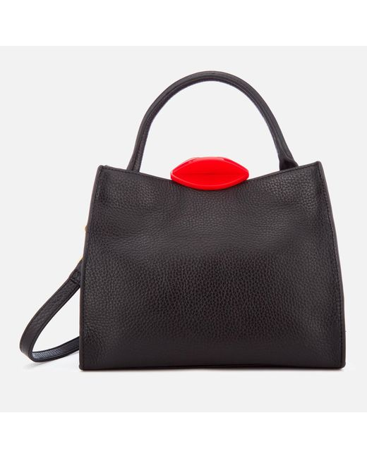 Lulu Guinness - Red Small Locked Lips Opt/strap Annette Tote Bag - Lyst