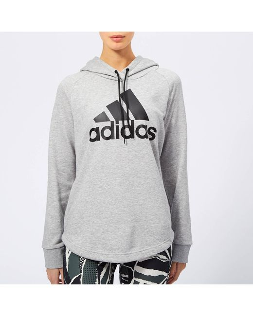 info for b7f57 8dd15 Adidas - Gray Must Haves Badge Of Sport Hoodie - Lyst ...