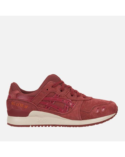 Asics - Brown Gel-lyte Iii Trainers for Men - Lyst