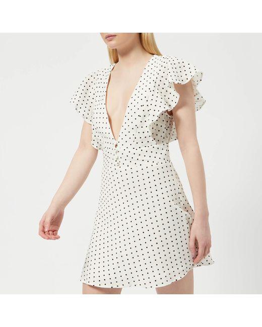 Bec & Bridge - White Petit Miam Plunge Dress - Lyst