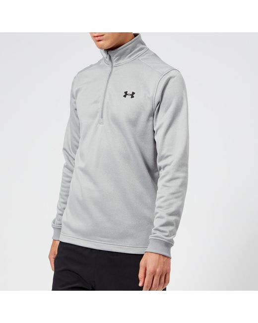 Under Armour - Gray Armour Fleece 1/2 Zip Top for Men - Lyst