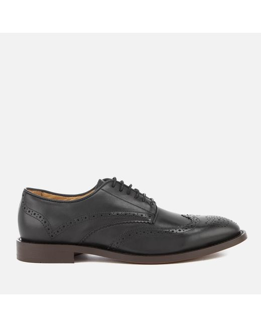 H by Hudson - Black Whitman Hi Shine Leather Brogues for Men - Lyst