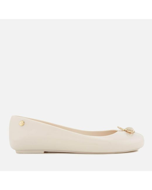 Melissa + Vivienne Westwood Anglomania | White Women's Space Love 18 Ballet Flats | Lyst