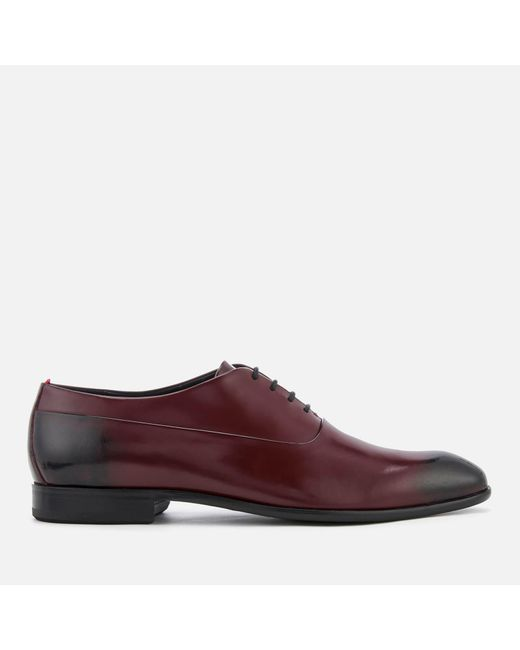 HUGO - Brown Dress Appeal Brush Off Leather Oxford Shoes for Men - Lyst