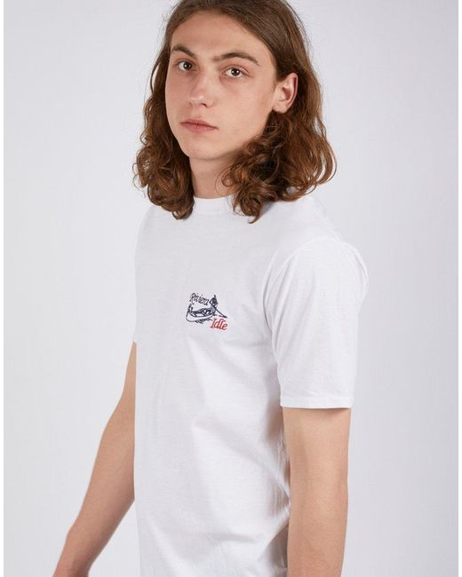 359c615c9454 The Idle Man Riviera Tshirt White in White for Men - Lyst