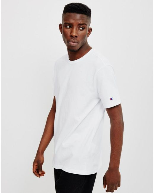 Champion | White Reverse Weave Crew Neck T-shirt for Men | Lyst