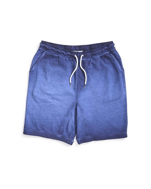 The Idle Man - Blue Acid Wash Jersey Short Navy for Men - Lyst