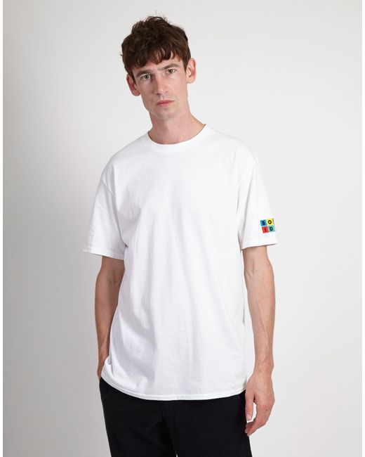 cd4bb6a0bad7 The Idle Man Rubix Born Idle Tshirt White in White for Men - Lyst