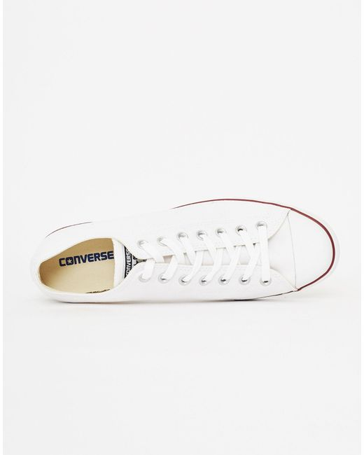 3f746800a0a93c ... Converse - Chuck Taylor All Star Lean Plimsolls White for Men - Lyst ...