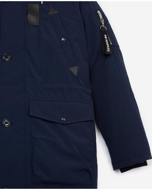 9bbe28ad215 ... The Kooples - Blue Oversized Navy Parka for Men - Lyst ...