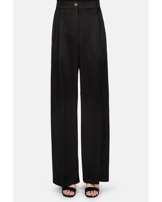 Loewe - Black Classic Pleated Front Cropped Trouser - Lyst