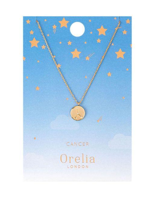 Orelia - Metallic Cancer Constellation Necklace - Lyst