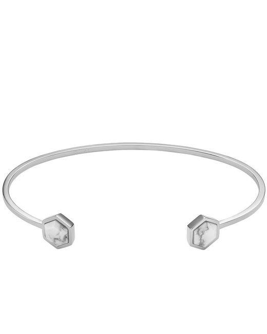 Cluse - Metallic Idylle Hexagons Open Cuff Bracelet - Lyst